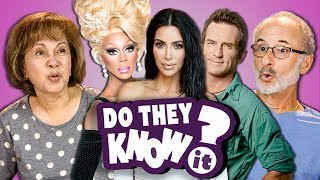 DO ELDERS KNOW MODERN REALITY SHOWS? | Kardashians, Rupaul