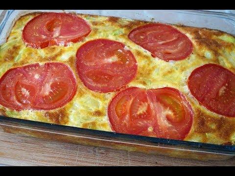 Фриттата из кабачков/Tomato and Zucchini Frittata