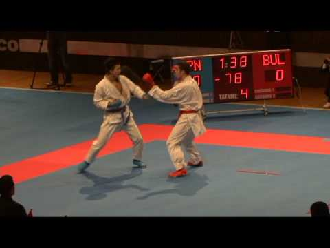2009 WKF Jr Worlds -21 Men -78 Kg Aka Japan vs Ao Bulgaria