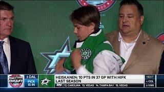 Heiskanen goes No.3 to the Stars