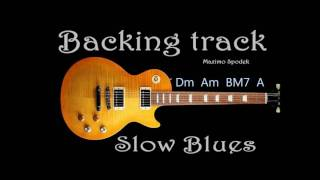 SLOW ROCK BLUES BALLAD, GARY MOORE STYLE, BACKING TRACK IN Dm