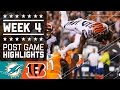 Dolphins vs. Bengals (Week 4) | Post Game Highlights | NFL