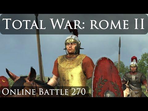 Total War Rome 2 Online Battle Video 270 Roman Civil War