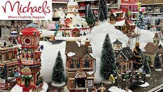 MICHAELS LEMAX CHRISTMAS VILLAGE SHOP WITH ME 2018