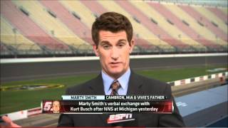Kurt Busch Marty Smith Confrontation at Michigan