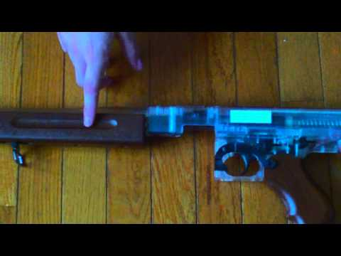 thompson m1a1 military drum mag version airsoft review