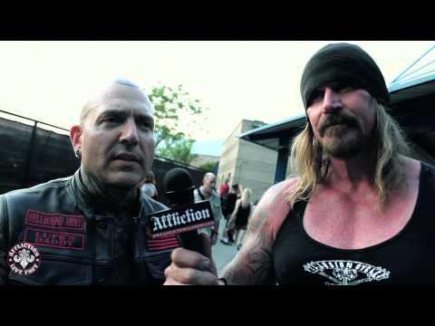 Affliction talks metal with Attika 7 at Mayhem 2013