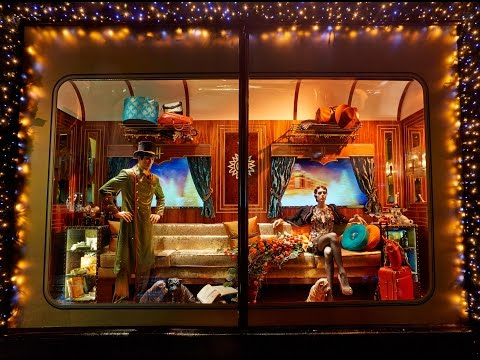 Worlds Best Harrods London Christmas Window Displays Designer Steam Express Train