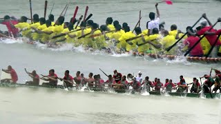 নওগাঁর ছোট যমুনা নদীতে ঐতিহ্যবাহী নৌকা বাইচ।। Boat Competition in Bangladesh