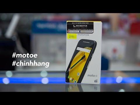 Đập hộp Motorola Moto E 2015 chính hãng, giá 2,59 triệu đồng