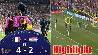 football asia world cup 2018.France vs Croatia (4-2) final match highlight