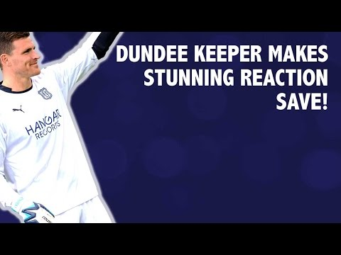 Dundee Keeper makes stunning reaction save!