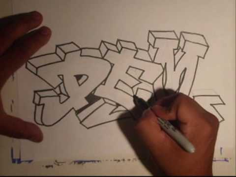 How To Draw Graffiti Characters By Wizard. Drawing Graffiti (Requested)-