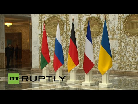 Ukraine peace talks - Normandy 4 arrive in Minsk