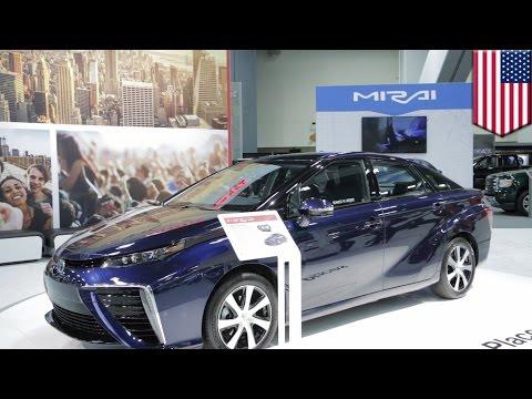 Renewable energy for cars: Toyota Mirai hydrogen fuel cell car, how it works animation - TomoNews