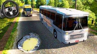 PRIMEIRA VIAGEM de ÔNIBUS NO BRASIL!!! - Euro Truck Simulator 2 + G27