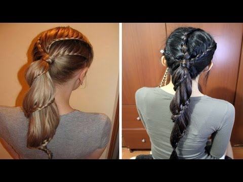 Spiral Carousel Lace Braid Ponytail Hairstyle Hair Tutorial