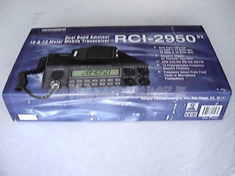 COBRAWORXSHOPZ RANGER RCI-2950DX DUAL BAND AMATEUR RADIO TRANSCEIVER 10M 11M 12M 24Mhz 32Mhz