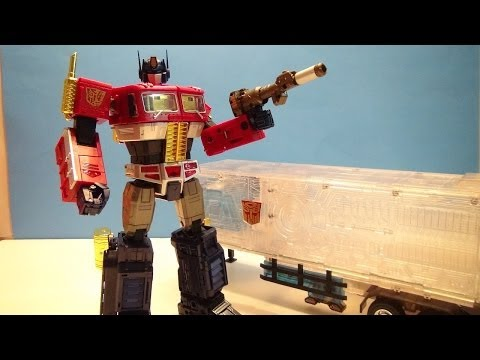 TRANSFORMERS YEAR OF THE HORSE MASTERPIECE OPTIMUS PRIME VIDEO TOY REVIEW
