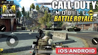CALL OF DUTY MOBILE - BATTLE ROYALE MODE BETA GAMEPLAY (ANDROID/IOS)