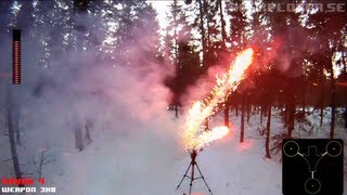 Drone with fireworks VS Hydrogen balloons
