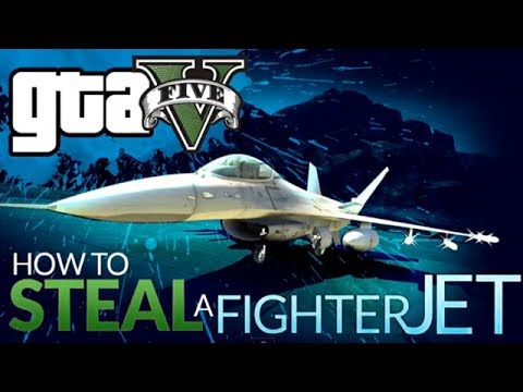 GTA 5 Online- Secret Entrance Military Base (Fighter Jet)   HDRAWR