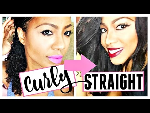 How to Flat Iron Natural Hair Silky Straight   Staight Hairstyle for Natural Hair   Ciarahoneydip