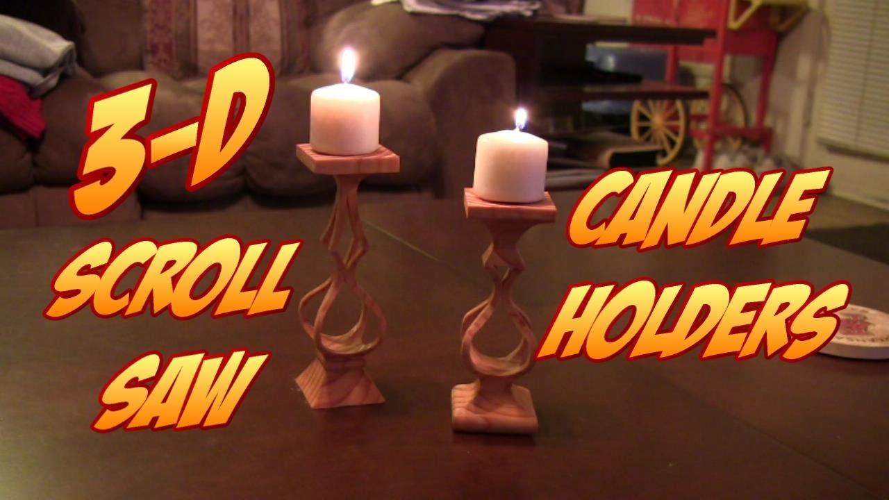 Make these COOL 3-D Scroll Saw Candle Holders FREE PATTERN ...