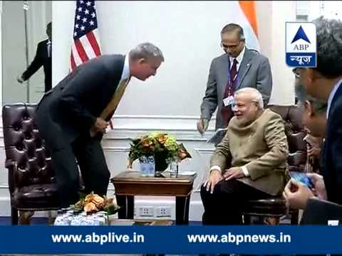 Modi meets NYC mayor, discusses city policing, urban space