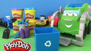 Playdoh TONKA Construction Rowdy the Trash Tossin' Garbage Truck - diggin' rigs mighty machines