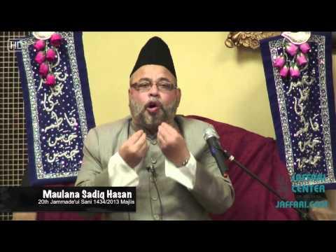 Maulana Sadiq Hasan Majlis 4 1434 Jashn e Wiladat Bibi Fatema Zehra SA)