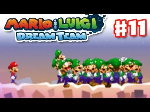 Mario Luigi: Dream Team Gameplay Walkthrough Part 11 Luiginoids Nintendo 3DS