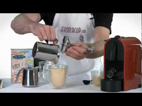 Stainless Steel Milk Frother and Pitcher