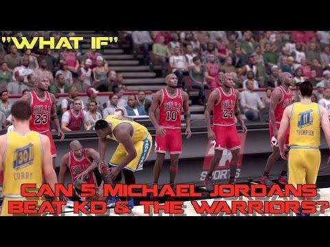 "CAN 5 MICHAEL JORDANS BEAT KD & GOLDEN STATE WARRIORS!? ""WHAT IF"""