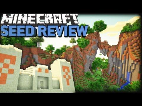 Minecraft 1.8 Seeds: BETA TERRAIN. EPIC MOUNTAINS & PYRAMID!