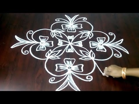 Chukkala Muggulu With 9 x 1 Design ||Simple Rangoli Kolam Design || Fashion World