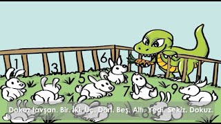 Turkish learning stories for kids - Turkish Numbers storybook