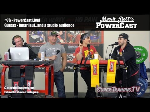 Mark Bell's Powercast #76 - Live! - Guests Omar Isuf...and A Studio Audience | Supertraining.tv video
