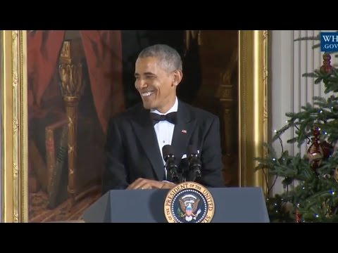 Obama Jokes With The Eagles At Kennedy Center Honors Reception