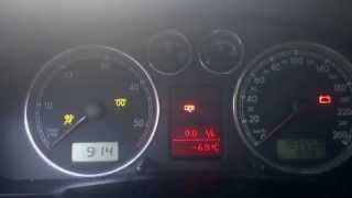 VW Passat B5.5 1.9 PDTDI 131 Hp -6,5°C cold start