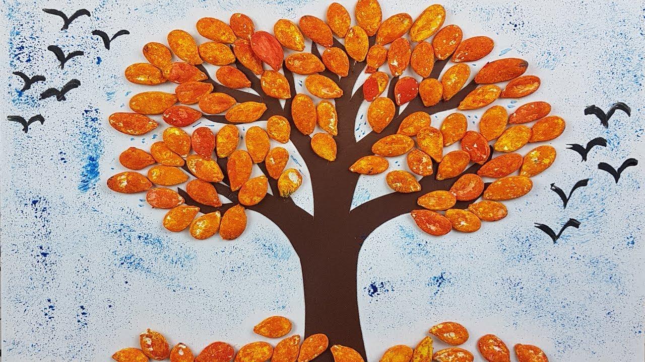 Поделки из семечек своими руками для детей в детский сад 87