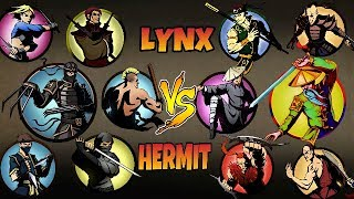 Shadow Fight 2 Lynx and Bodyguards VS Hermit and Bodyguards