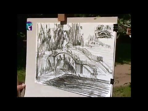Уроки рисования (№ 61) карандашом. Учимся рисовать пейзажи