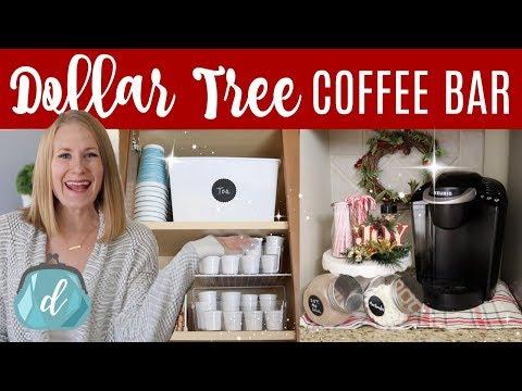 DOLLAR TREE KITCHEN ORGANIZATION  ☕️🎄 Coffee Station & Hot Cocoa Bar Christmas DIY