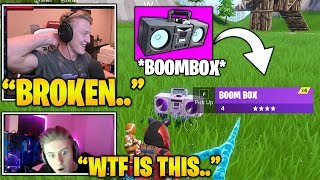 TFUE & Streamers First Time Using *NEW* BROKEN Boombox ITEM.. (Fortnite Moments)