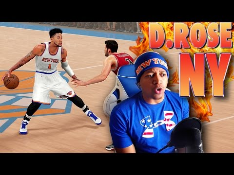 DERRICK ROSE Traded to the New York KNICKS - NBA 2K16 Gameplay