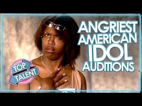 ANGRY & RUDEST AUDITIONS ON AMERICAN IDOL!