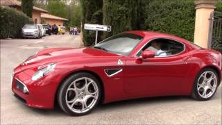 Alfa Romeo 8C Competizione - Startup + Full Throttle Acceleration!