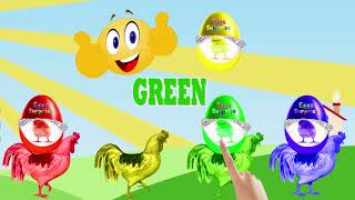 Learn Colors Learn Animals Name and Sound for Kids Colours with Chicken Dog Play Soccer Balls 1