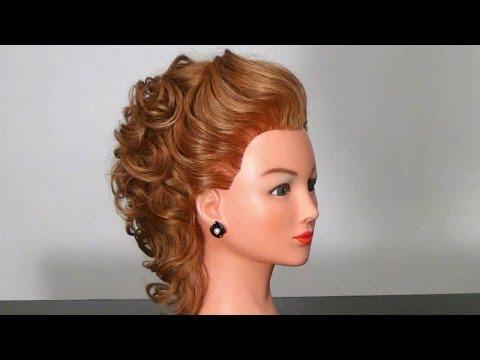 Фото вечерние прически на среднюю длину волос фото